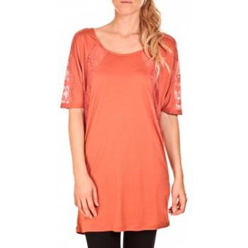 Vêtements Femme Tuniques Vero Moda Top Bess long Orange Orange