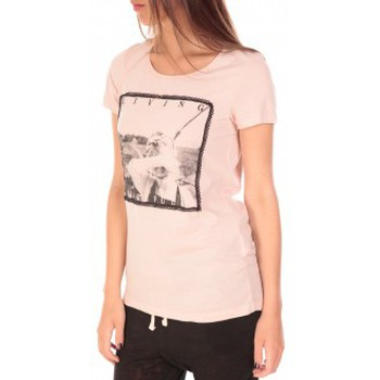 Vêtements Femme T-shirts manches courtes Vero Moda Top BBB Living Gracefully SS Rose Rose