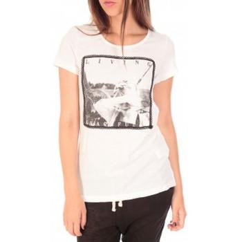Vêtements Femme T-shirts manches courtes Vero Moda Top BBB Living Gracefully SS Blanc Blanc