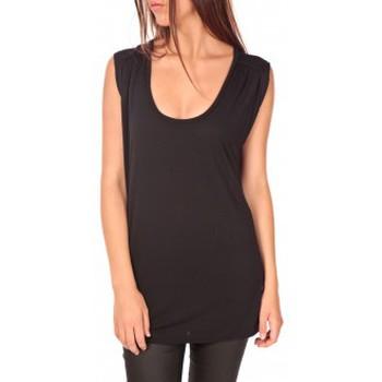 Vêtements Femme T-shirts manches courtes Vero Moda Top Orabelle SL Noir Noir