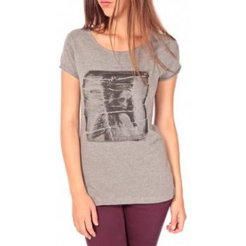 Vêtements Femme T-shirts manches courtes Tom Tailor T-shirt With Print Gris Gris