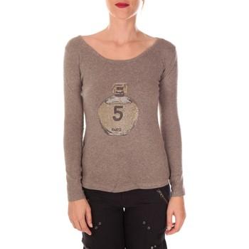 Vêtements Femme Pulls Vision De Reve Vision de Rêve Pull Five Col Rond 1036 Taupe - Marron