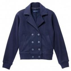 Vêtements Femme Vestes Petit Bateau Veste Femme en Milano Esprit Caban Bleu Smoking Bleu