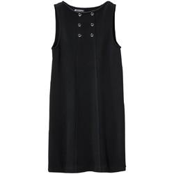 Vêtements Femme Robes courtes Petit Bateau Robe Femme 3 Boutons en Molleton Fleece Noir Noir