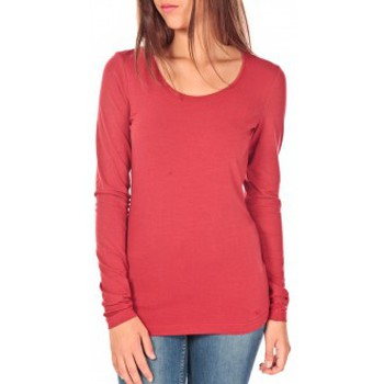 Vêtements Femme T-shirts manches longues Tom Tailor Lara Stretch Longsleeve Rouge Rouge