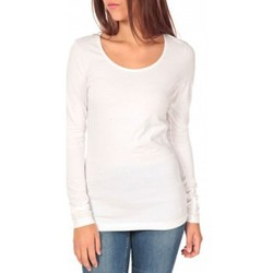 T-shirts manches longues Tom Tailor Lara Stretch Longsleeve Blanc