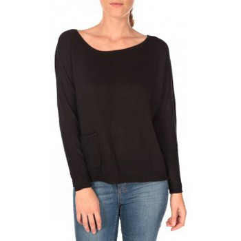 Vêtements Femme Pulls Tom Tailor Basic Structure Pullover Noir Noir
