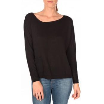Vêtements Femme Pulls Tom Tailor Basic Structure Pullover Noir Noir