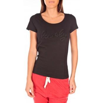 Vêtements Femme T-shirts manches courtes Vero Moda Lovely SS Top PP Noir Noir
