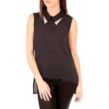 Vêtements Femme Débardeurs / T-shirts sans manche Vero Moda Tosh SL Top AC Wall Noir Noir