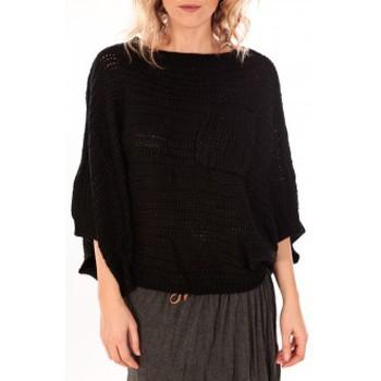 Vêtements Femme Pulls De Fil En Aiguille Pull Poncho Sophyline T-1614 Noir Noir