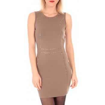 Vêtements Femme Robes courtes Vero Moda YDA SL MINI DRESS  Marron Marron