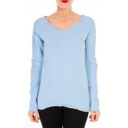 Vêtements Femme T-shirts manches longues By La Vitrine T-shirt Empiècement Pailleté 2119 Bleu Bleu