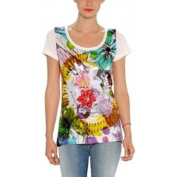 Vêtements Femme T-shirts manches courtes Desigual TS_RAQUEL 32T2412 Blanc Blanc