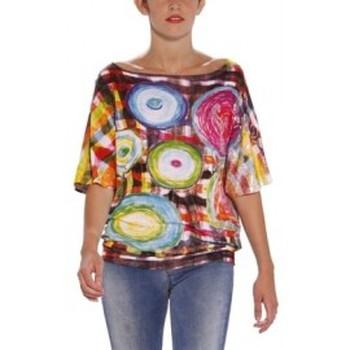 Vêtements Femme T-shirts manches courtes Desigual TS_CELIA 31T2622 Rose Rose