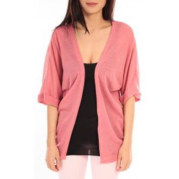 Vêtements Femme Gilets / Cardigans Vero Moda MONA 2/4 LONG CARDIGAN 89960 Rose Rose