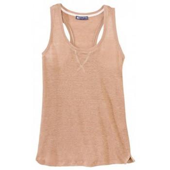 Vêtements Femme Débardeurs / T-shirts sans manche Petit Bateau Débardeur femme dos nageur en lin 32930 25 Marron Marron
