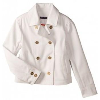 Vêtements Femme Vestes Petit Bateau Caban femme volume court en serge 32318 07 Blanc Blanc