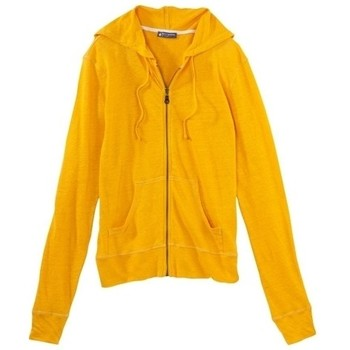 Vêtements Femme Gilets / Cardigans Petit Bateau Veste zippée femme à capuche en lin 32928 73 Jaune Jaune