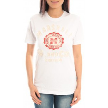 Vêtements Femme T-shirts manches courtes Sweet Company T-shirt Marshall Original M and Co 2346 Blanc Blanc
