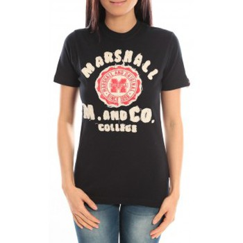 Vêtements Femme T-shirts manches courtes Sweet Company T-shirt Marshall Original M and Co 2346 Noir Noir