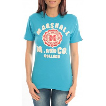 Vêtements Femme T-shirts manches courtes Sweet Company T-shirt Marshall Original M and Co 2346 Bleu Bleu