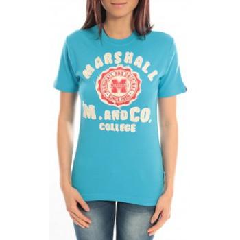 Vêtements Femme T-shirts manches courtes Sweet Company T-shirt Marshall Original M and Co 2346 Bleu Bleu