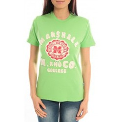 Vêtements Femme T-shirts manches courtes Sweet Company T-shirt Marshall Original M and Co 2346 Vert Vert