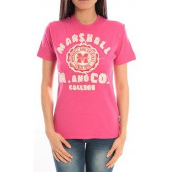 Vêtements Femme T-shirts manches courtes Sweet Company T-shirt Marshall Original M and Co 2346 Fushia Rose