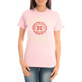 Vêtements Femme T-shirts manches courtes Sweet Company T-shirt Marshall Original M and Co 2346 Rose Rose