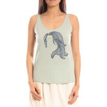 Vêtements Femme Débardeurs / T-shirts sans manche Blune Débardeur Superpower SP-DF01E13 Vert Vert