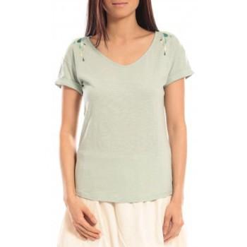 Vêtements Femme T-shirts manches courtes Blune T-shirt Larmes de Joie LJ-TF01E13 Vert Vert