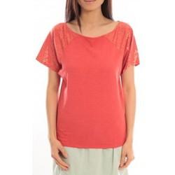 Vêtements Femme T-shirts manches courtes Blune T-Shirt Pointilleuse PO-TF02E13 Rouge Rouge