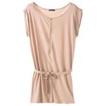 Vêtements Femme Robes courtes Petit Bateau Petit Bauteau Robe femme en jersey flammé 32992 09 Beige Rose