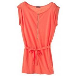 Vêtements Femme Robes courtes Petit Bateau Robe femme en jersey flammé 32992 20 Orange Orange