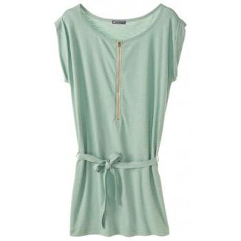 Vêtements Femme Robes courtes Petit Bateau Robe femme en jersey flammé 32992 02 Vert Vert