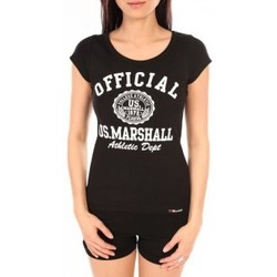Vêtements Femme T-shirts manches courtes Sweet Company T-Shirt Official US Marshall FT 100 Noir Noir