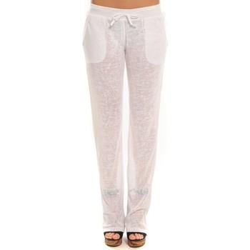 Vêtements Femme Pantalons de survêtement By La Vitrine Pantalon  BLV01Blanc Blanc
