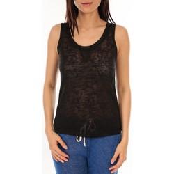 Vêtements Femme Débardeurs / T-shirts sans manche By La Vitrine Débardeur BLV06 Noir Noir