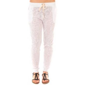 Vêtements Femme Pantalons By La Vitrine Pantalon American Vitrine BLV02 Blanc Blanc
