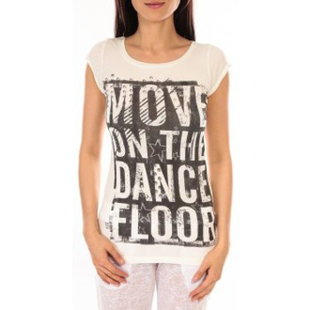 Vêtements Femme T-shirts manches courtes L'atelier Du Marais T-shirt Atelier du Marais DANCEFLOOR Blanc Blanc