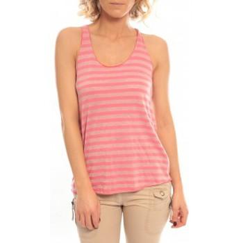 Vêtements Femme Débardeurs / T-shirts sans manche So Charlotte Oversize tank Top Stripe T36-371-00 Rose Rose