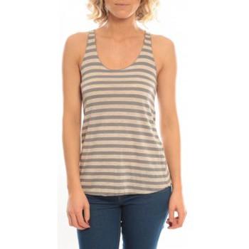 Vêtements Femme Débardeurs / T-shirts sans manche So Charlotte Oversize tank Top Stripe T36-371-00 Gris Gris