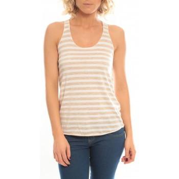 Vêtements Femme Débardeurs / T-shirts sans manche So Charlotte Oversize tank Top Stripe T36-371-00 Blanc Blanc
