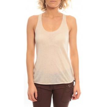 Vêtements Femme Débardeurs / T-shirts sans manche So Charlotte Oversize tank Top Snake Burnout T53-371-00 Beige Beige