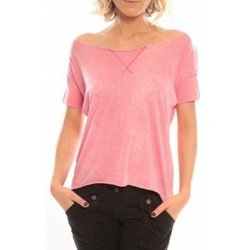 Vêtements Femme T-shirts manches courtes So Charlotte Tight short sleeves Tee all snake T53-406-00 Rose Rose
