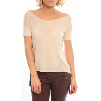 Vêtements Femme T-shirts manches courtes So Charlotte Tight short sleeves Tee all snake T53-406-00 Beige Beige