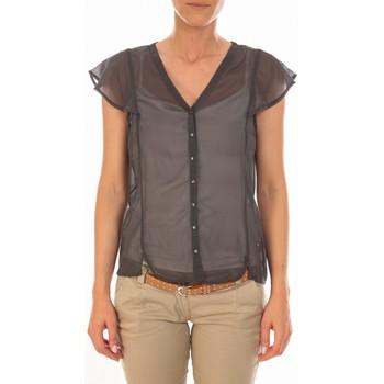 Blouses Vero moda chemisier agnes s/s shirt mix asphalt gris