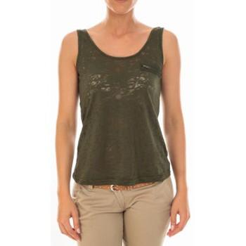 Vêtements Femme Débardeurs / T-shirts sans manche Vero Moda TOP ALMA SL TANK Kombu Green/DTM ZIPPER Vert