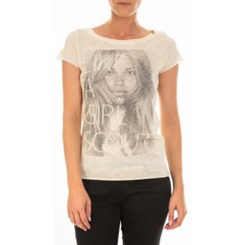 Vêtements Femme T-shirts manches courtes Vero Moda TOP JESSICA CAP SLEEVE White Asparagus/W. Front P Blanc